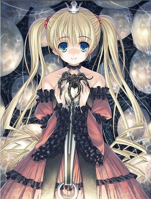 Blue eye anime girl