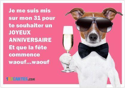 carte anniversaire humour chien