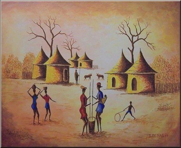 Afrique dessins peintures - Africaine dessin ...