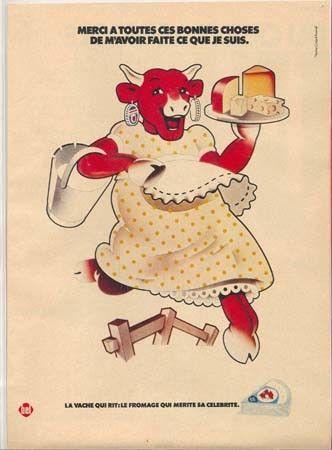 affiche publicitaire ancienne la vache qui rit. Black Bedroom Furniture Sets. Home Design Ideas
