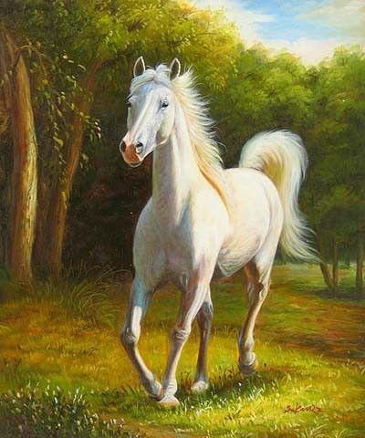 Chevaux peintures dessins for Peinture sur fer a cheval